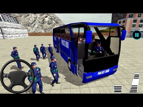 US Police Bus Mountain Driving Simulator - Police Game Android gameplay