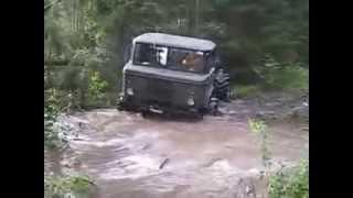 Супер вездеход ГАЗ-66 по лесам и бездорожью.