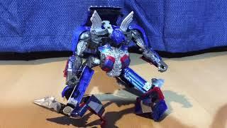 Transformers Optimus prime transformation Stop Motion (remake)