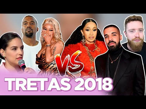MAIORES TRETAS DE 2018: KANYE VS DRAKE CARDI B VS NICKI KÉFERA VS LUBA   Foquinha FBI