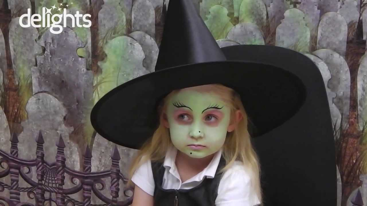 sc 1 st  YouTube & Witch Face Paint - Childrenu0027s Halloween Witch Tutorial - YouTube