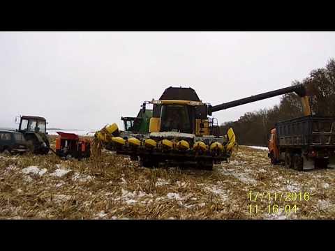 Уборка кукурузы  Комбайны Torum,New Holland,John Deere