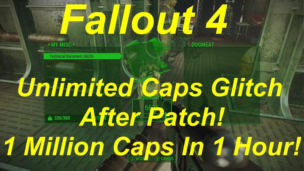 Bottle cap glitch fallout 4 patched