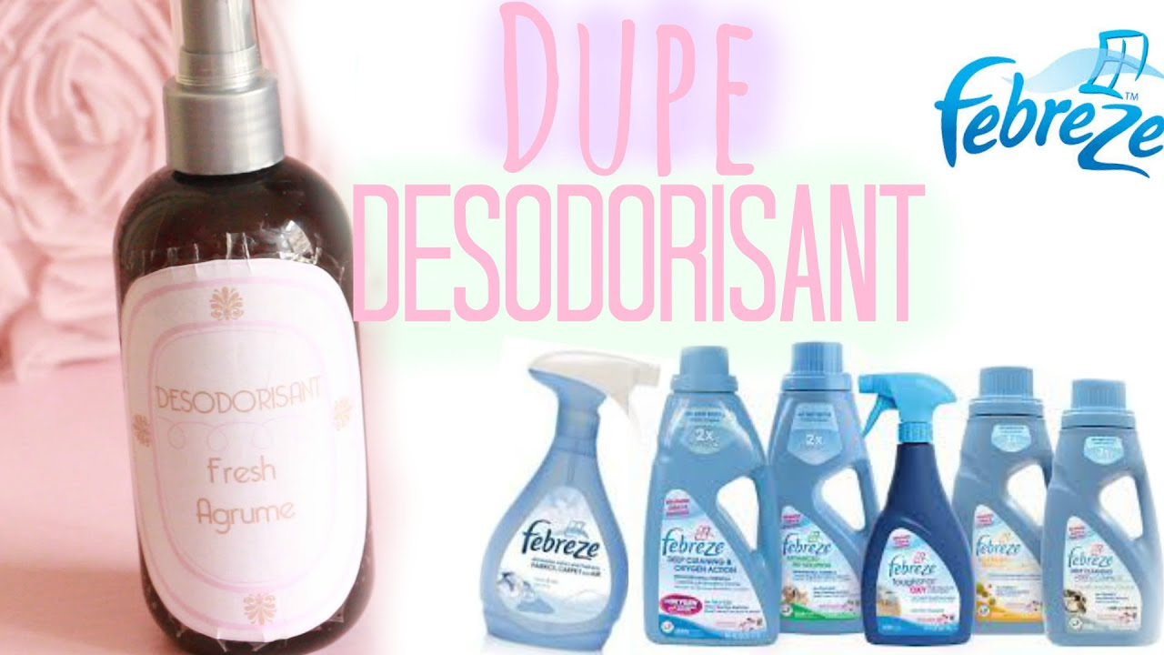 diy dupe febreze d sodorisant pour la maison air fresheners caly beauty youtube. Black Bedroom Furniture Sets. Home Design Ideas