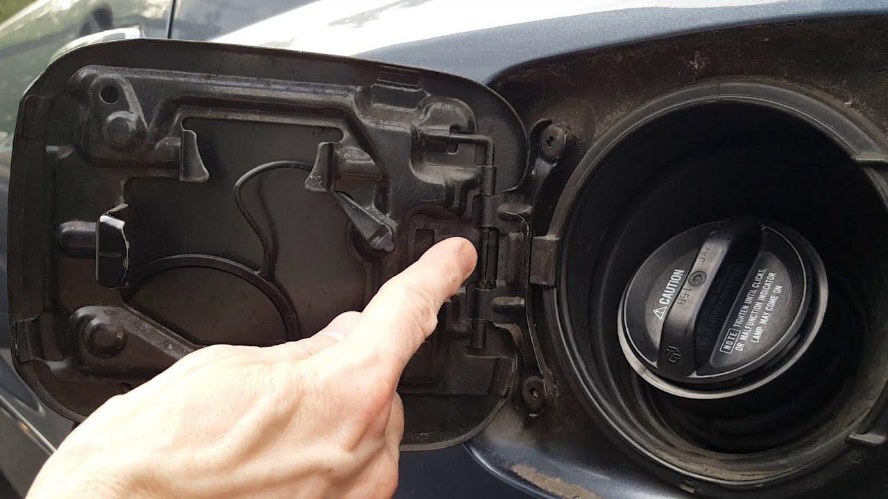 DIY Fix Toyota Fuel Door Spring  YouTube