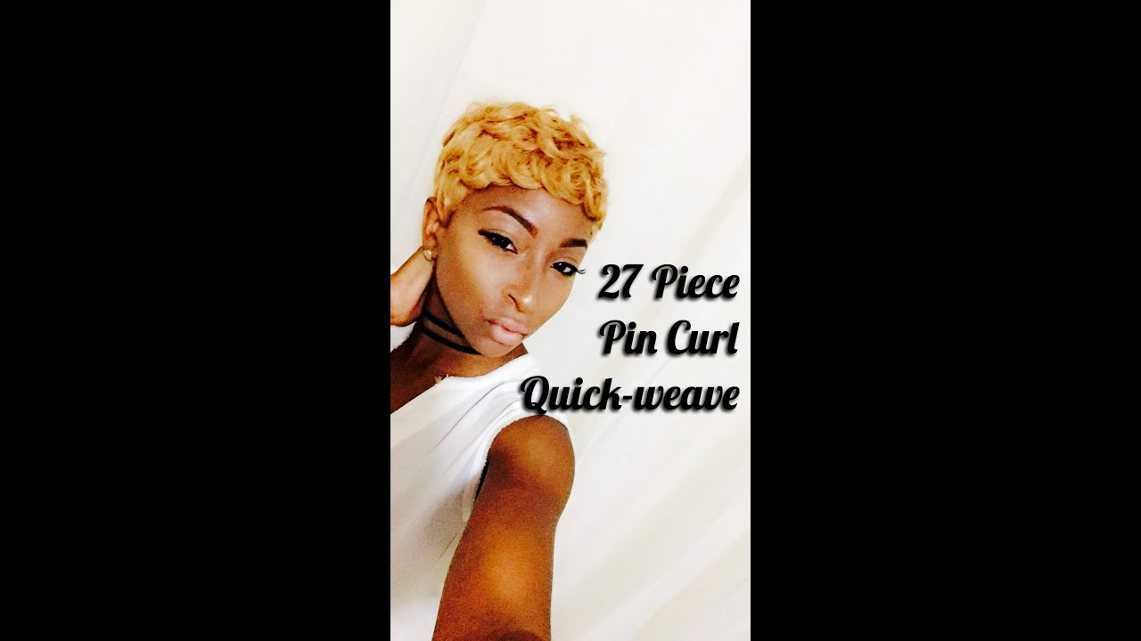 27 Piece Pin Curl Quick Weave Youtube