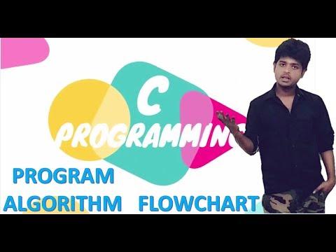 Algorithm  Program Flowchart in programming  | c programming language  tutorials (HINDI )