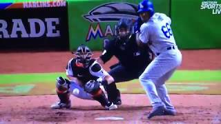 Yasiel Puig Dramatic 3 Run Homerun Vs Marlins
