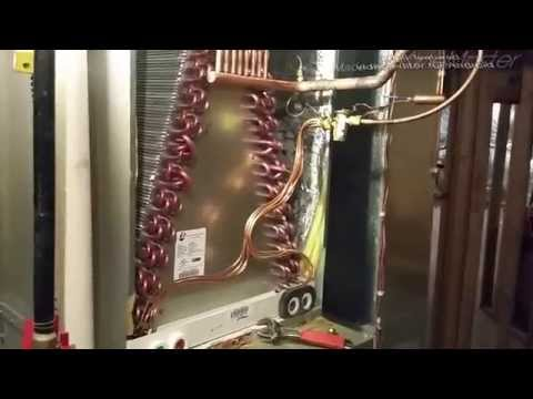 Coil change out leaking evaporator coil pan & replacement