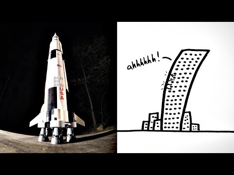 How To Stop Structures from SHAKING: LEGO Saturn V Tuned Mass Damper