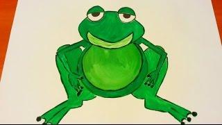 How to draw a frog - painting with a child, Jak namalować żabkę - malowanie z dzieckiem