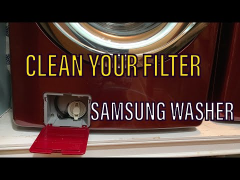 samsung washer filter cleaning