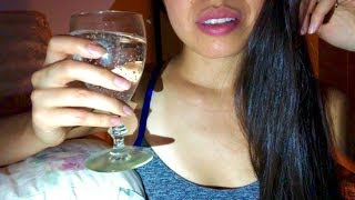 ASMR A Special Drink to FIZZLE Your TIINGLES! (Pouring Bubbly Liquid, Glass Tapping, Pop Rocks)
