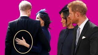Prince Harry & Meghan Markle's body language at Eugenie's wedding
