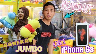 WOW!!! dapet iphone6s!!maen bareng subscribers!!rampok boneka claw machine !