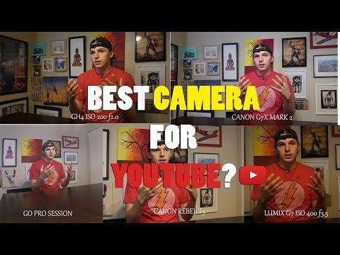 BEST CAMERA FOR YOUTUBE! GH4 VS. G7X MARK 2 VS. G7 VS. GO PRO!