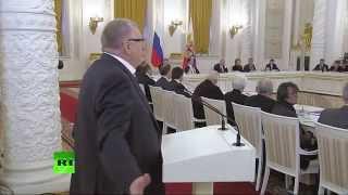 Жириновский жжёт!)) На заседании госсовета по культуре в Кремле. 24.12.2014
