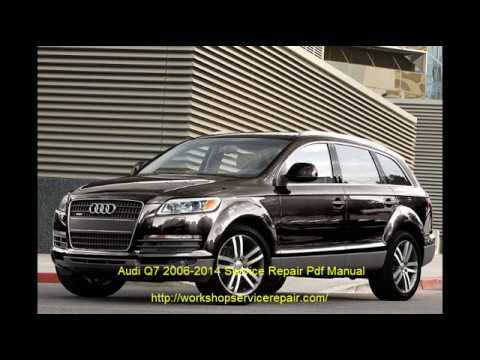 Audi q7 shop manual service repair book bentley robert dvd.