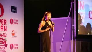 Nao Masaoka singing live. Hyper Japan 27-11-2016
