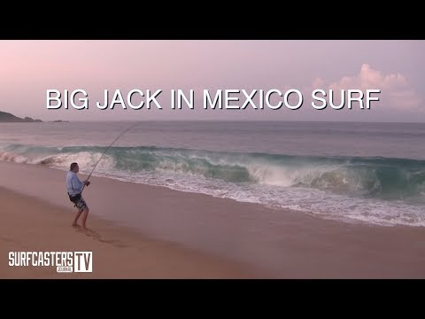 Surf Fishing Tip Of The Week # 31- Catching Big Jacks In Mexico Surf