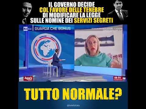 Giorgia Meloni: Governo decide, col favore delle tenebre, di modificare legge nomine servizi segreti