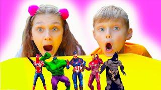 Dolguniki   bailando con los superhéroes