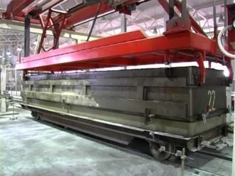 видео: Производство ячеистого бетона / завод ячеистого бетона / aac plant / aac production