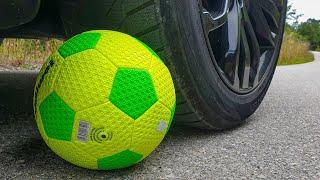 Crushing Crunchy & Soft Things by Car! EXPERIMENT CAR VS FOOTBALL