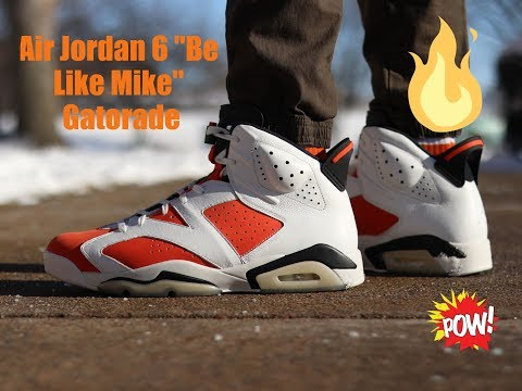 """THESE ARE CLEAN! AIR JORDAN 6 """"GATORADE"""" BE LIKE MIKE"""