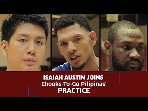 Isaiah Austin Joins Chooks-to-Go Pilipinas' Practice! (VIDEO)