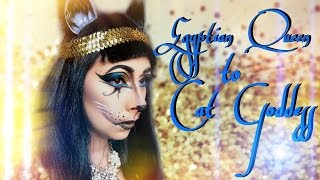 Egyptian Queen to Cat Goddess Makeup