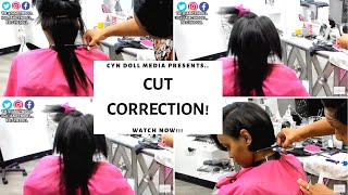 THE HARDEST CUT OF MY CAREER TO DATE! CUT CORRECTION AND SILK PRESS!