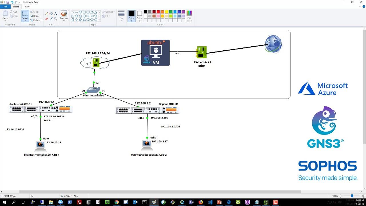 GNS3 on Azure 03: Configure GNS3 Internet Connectivity