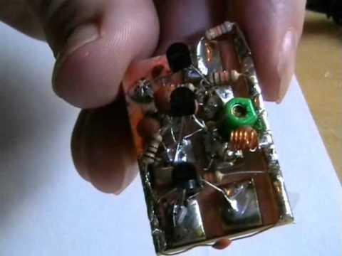 I show you how to build a spy bug FM transmitter.