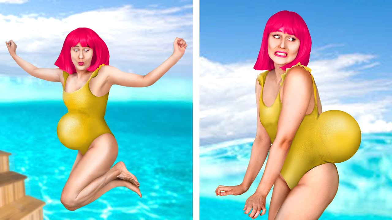 SUMMER LIFE! 9 Types of People At The Beach & Summer Hacks by Crafty Panda How