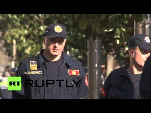 Montenegro: Anti-govt. protests continue outside parliament in Podgorica