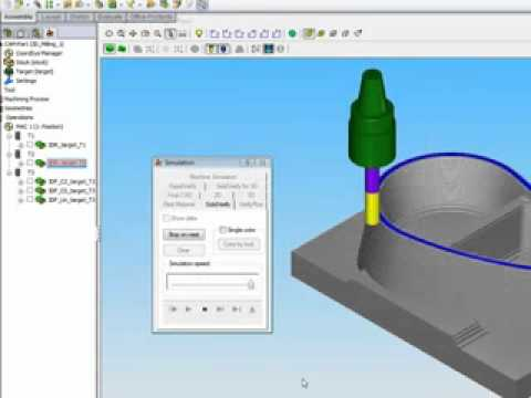 3d Milling Basic 1 Solidcam Cad Cam Software Youtube