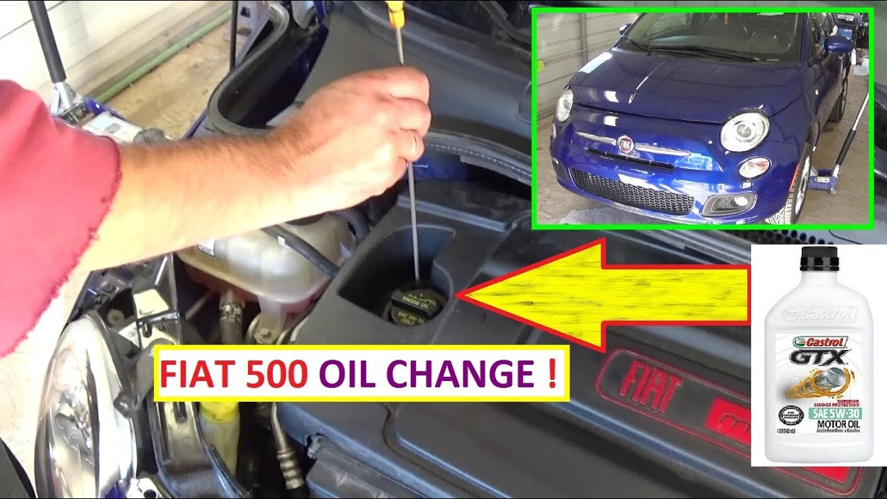fiat oil change oil change on fiat 500 how to change the oil and [ 1280 x 720 Pixel ]