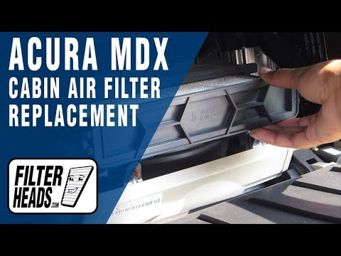 How To Replace Cabin Air Filter Acura MDX YouTube - Acura mdx air filter