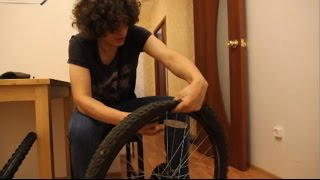 Меняем покрышки на велосипеде(Приобрел себе полуслик и решил записать видео как менять покрышки, камеры на велосипеде. Как поменять рези..., 2016-07-22T09:39:59.000Z)