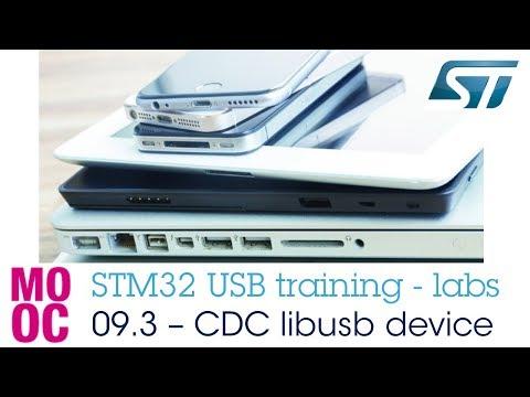 STM32 USB Training - 09.3 USB CDC Libusb Device Lab
