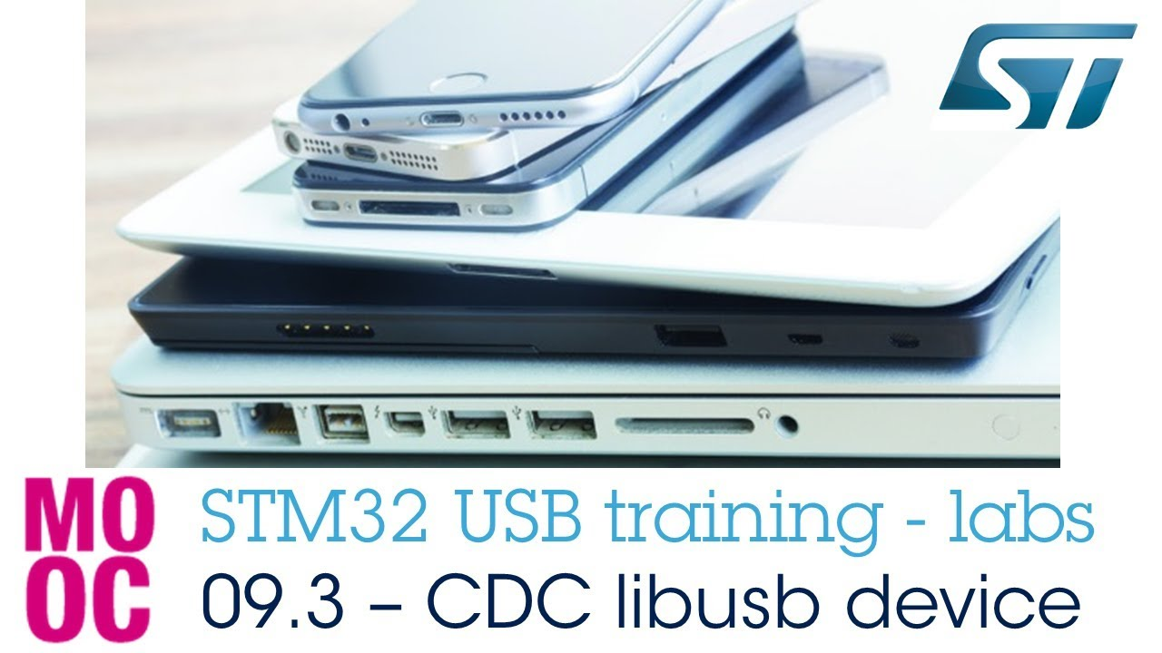 STM32 USB training - 09 3 USB CDC libusb device lab