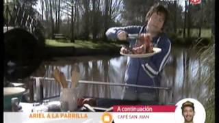 Ariel a la Parrilla - Bife de chorizo crocante con papa rellena y tomates