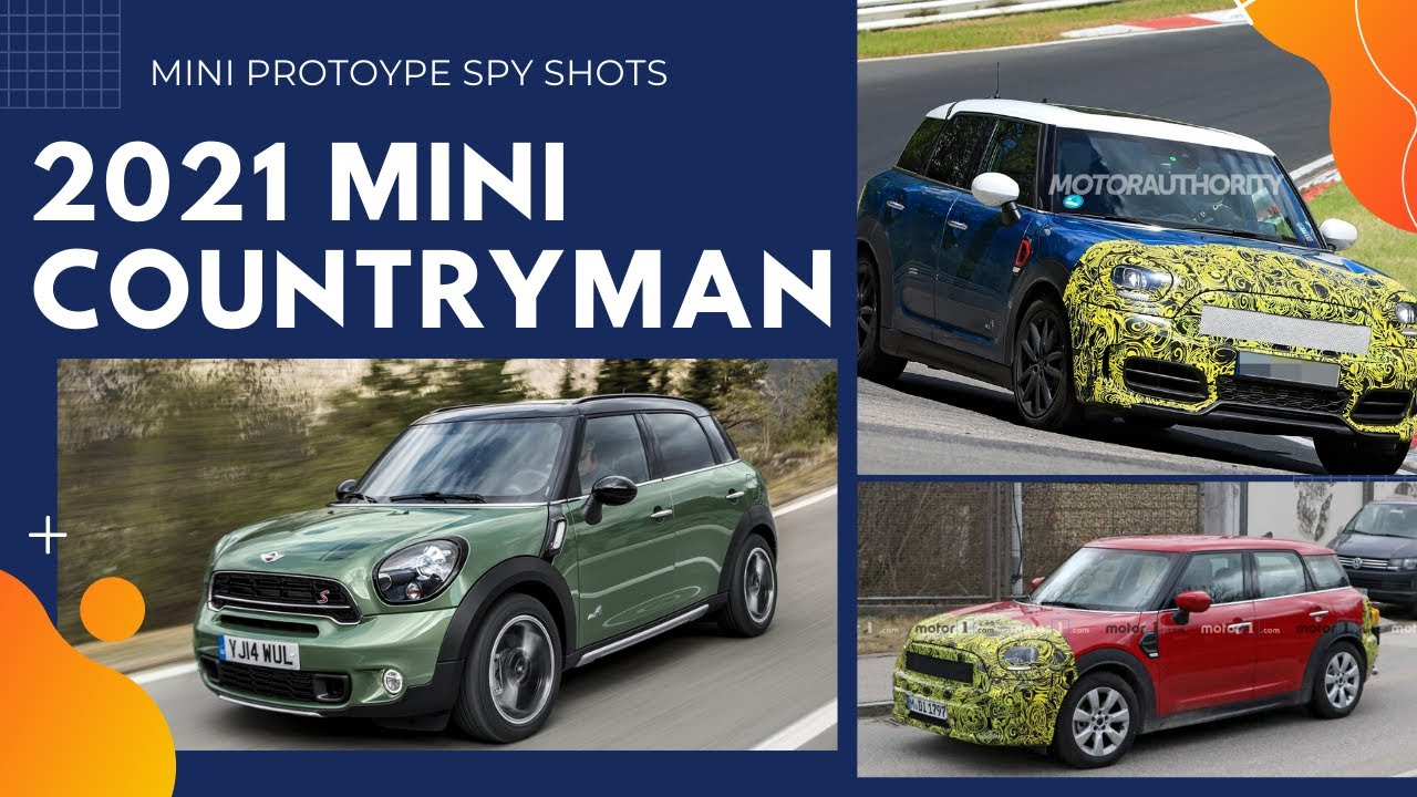 2021 mini countryman  facelift spy shot  youtube