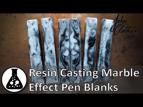 Resin Casting Marble Effect Pen Blanks