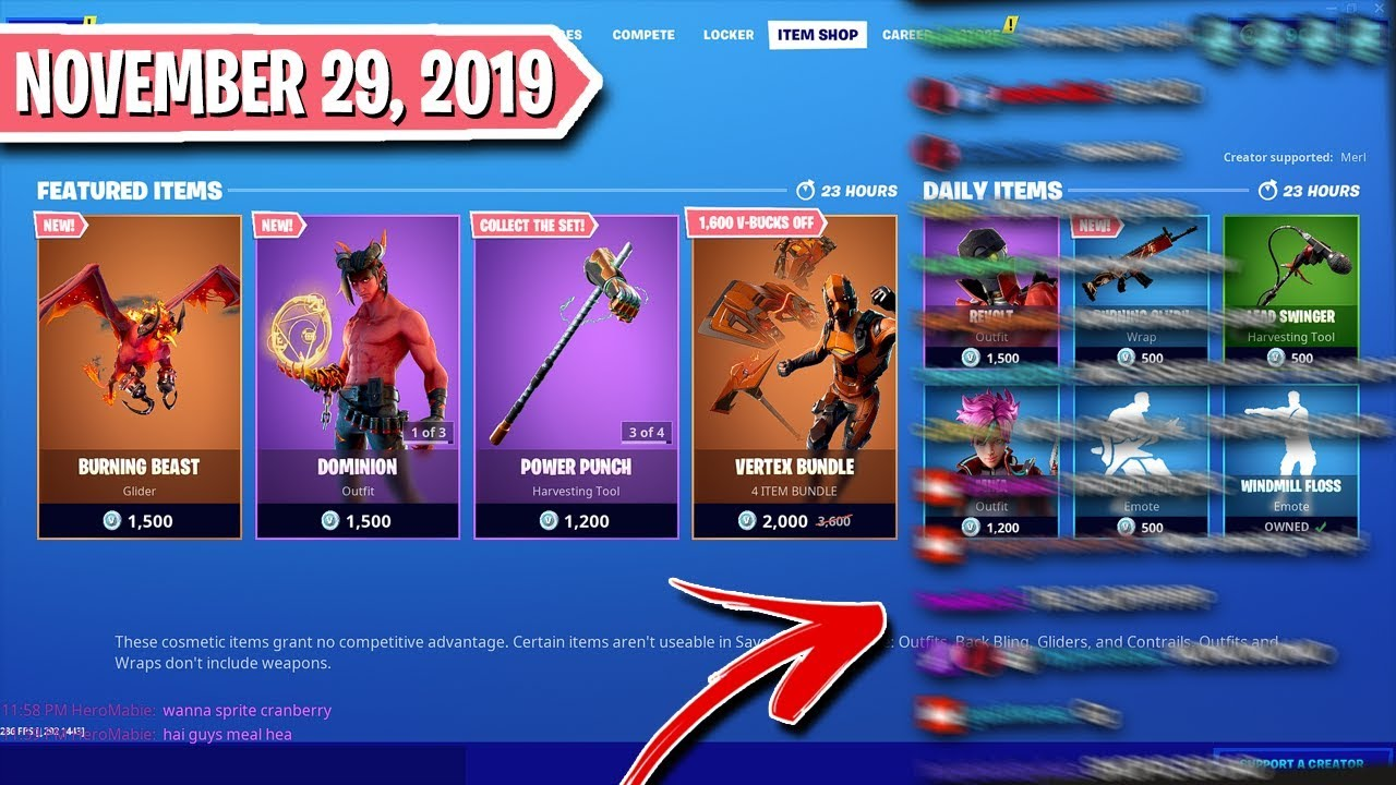 Huge Black Friday Shop Viewers React To Fortnite Item Shop November 29th 2019 Youtube