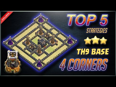 Top 5 Strategies to 3 Star 4 Corners TH9 Base | Clash of Clans [EXCLUSIVE]