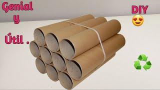 IDEAS SUPER ÚTIL Con Tubos de Cartón | Ideias Com Tubos de Papelão | ORGANIZADOR MULTIUSOS #recycle