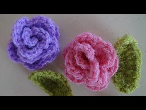 Τριαντάφυλλα πλεκτά με βελονάκι, πανέμορφα και εύκολα!