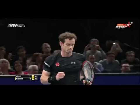 Paris Masters 2015: Borna Coric vs Andy Murray 2rd Round | Highlights 5/11/2015